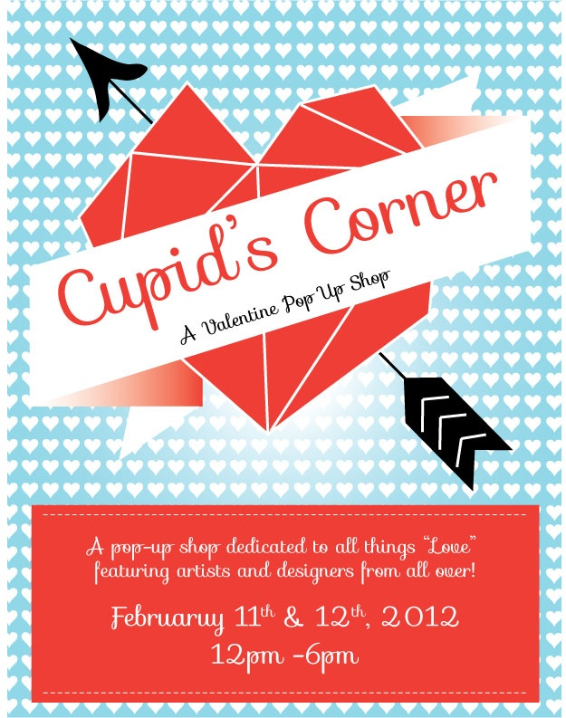 Cupid's Corner Flyer designed by Carissa Leos