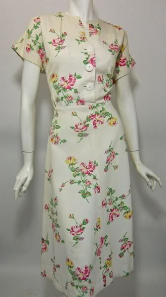 1940s cotton dress-I would so wear this now!
