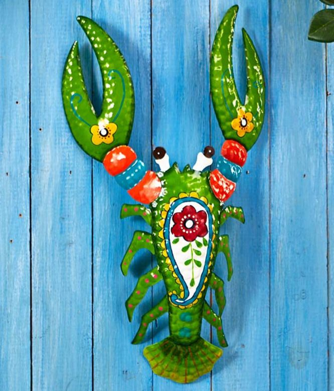 Tropical Wall Hanging Front Porch Decor Sunroom Outdoor Fence Nautical Lobster | Home & Garden, Yard, Garden & Outdoor Living, Garden Décor | eBay!