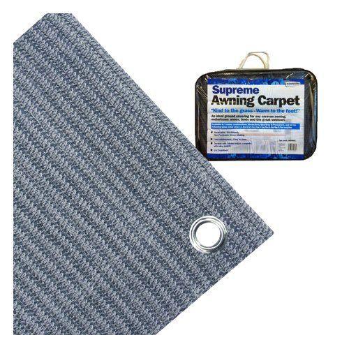 Tapis de sol respirant spécial camping Bleu gris 2,5 x 6 m: Streetwize LWBG2560 Supreme Awning Carpet – Blue/ Grey Livraison en…