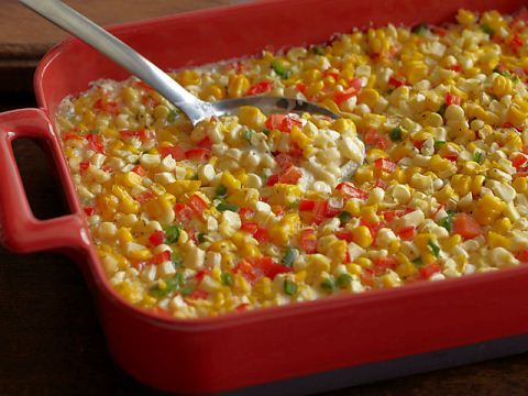 Ree's Creamy Corn Casserole : Ree's creamy fresh corn casserole is kicked up with diced jalapenos.