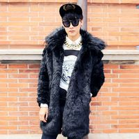 2014 neue Luxus warmen dicken soft shell pelzmantel männer jacke herren pelz mäntel wintermode chaqueta hombre, 5 styles, versandkostenfrei