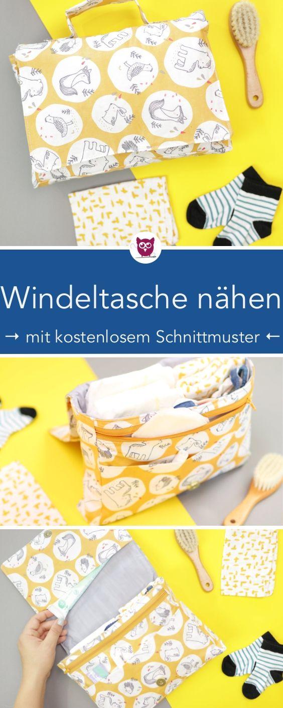 Sac à langer à coudre avec motif de couture gratuit   – Nähen für Babies