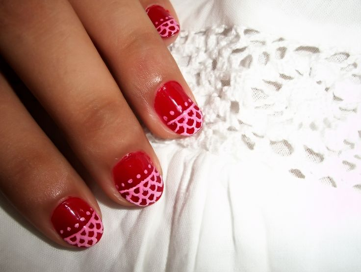 Nail Ideas For Short Nails | Red Nail Art Designs for Short Nails | ImagesForFree.org