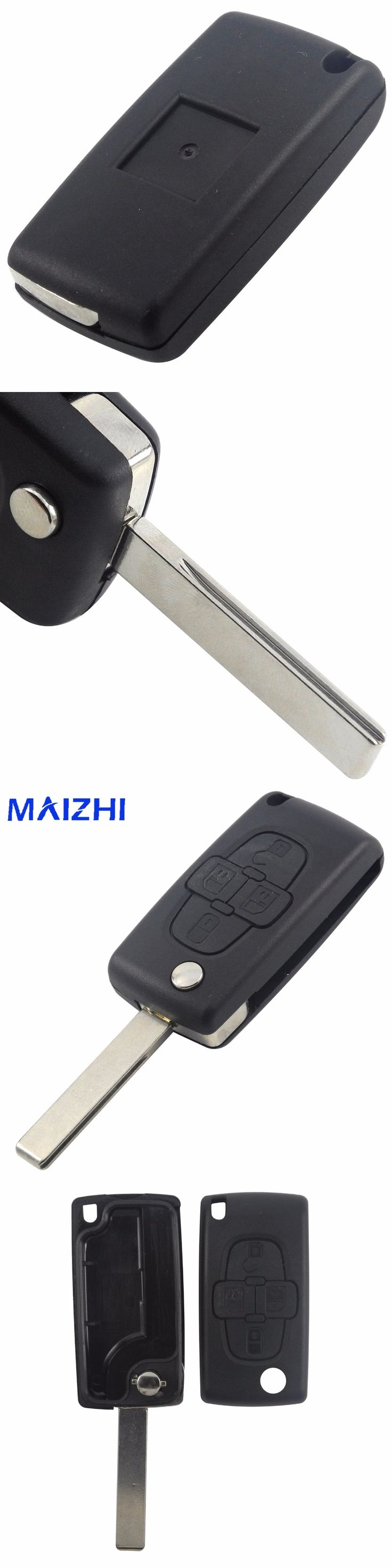 4 Buttons Remote Folding Flid Car Key Case Shell Cover Fob Blade Styling For Peugeot 1007 For Citroen C8 Without Logo
