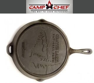 "14"" Cast Iron Skillet by Camp Chef. This Company are leading manufacture in the outdoor industry. They offers high quality products include: cooking system, Stoves and ovens, Smokers, Skillet, cookware and accessories."