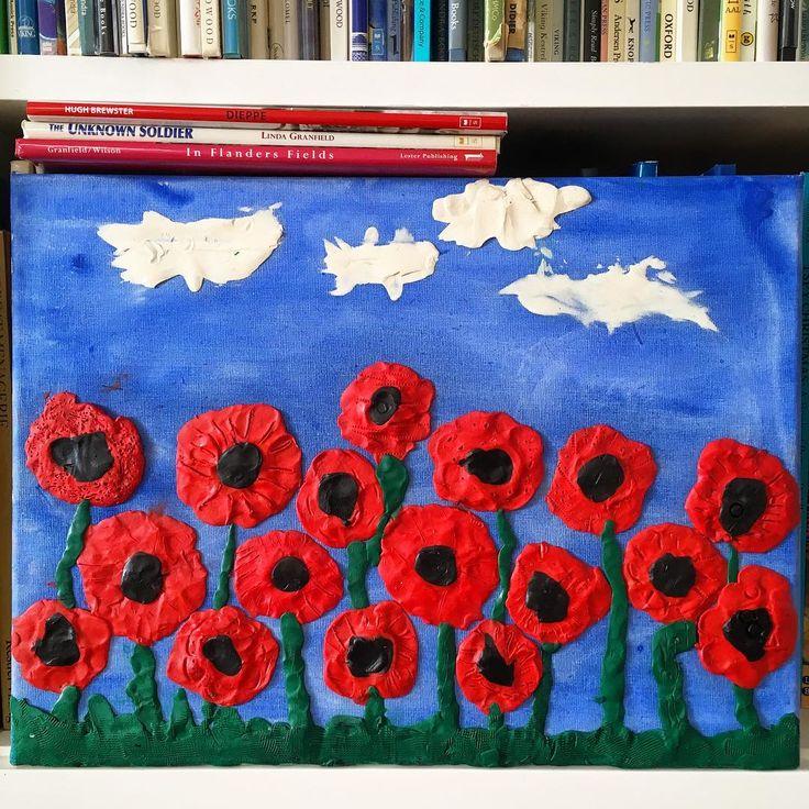 "68 Likes, 2 Comments - Barbara Reid (@barbreidart) on Instagram: ""Art by students at Norseman School, Toronto. #remembrance #poppies"""