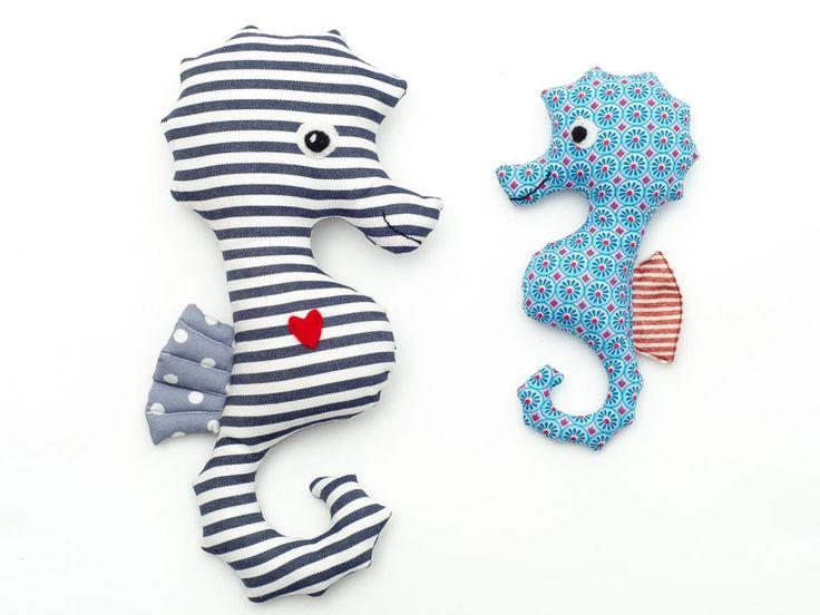 Nähanleitungen Kind - Kuscheltier nähen: Seetje Seepferdchen | Anleitung - ein Designerstück von Tiffy-Binenstich bei DaWanda