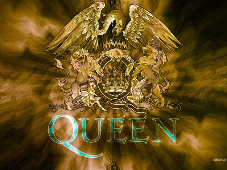 """The outline of the Queen logo depicts an image of elegance and royalty. This is evident because the whole layout resembles the Royal coat of arms of United Kingdom..""    ""The zodiac signs of the band members, two lions and two fairies on either side; crowned by a crab, appearing at the top of the swirled letter Q; The lions in the Queen logo shelter the fairies, and stand elevated.""  Above the crab lie a chain of flames, looking like a crown.""  An eagle spreads its wings over the logo."