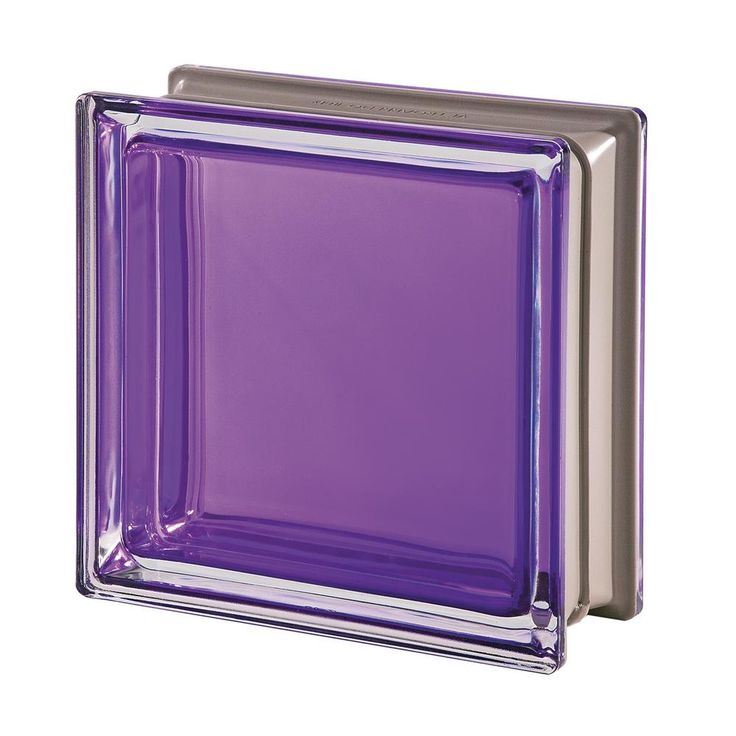 Seves Mendini Q19 Ametista 7.48 in. x 7.48 in. x 3.15 in. Clear Pattern Glass Block (5-Pack)