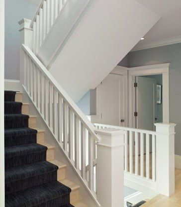 Edwardian style appearance stair area interior renovation