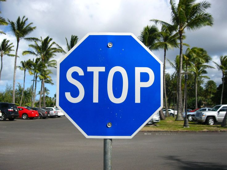 Blue stop sign I saw in Hawaii - UNDERTALE???
