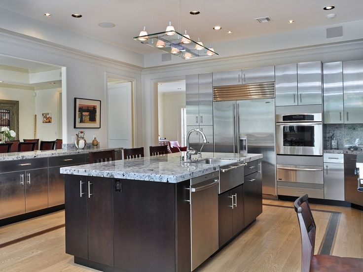 Ultra Craft Stainless Steel Appliances Madagascar Granite Counters And Top Of The Line Appliances Grace This Gourmet Chef S Kitchen