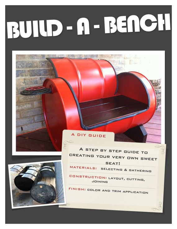 Learn how to build a sweet seat out of a 55 gallon drum!  Great etsy site!