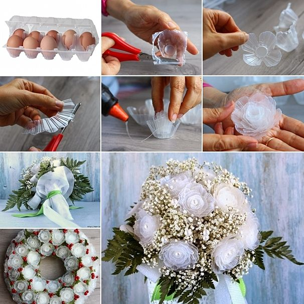 These plastic egg tray roses are simply amazing http for Egg tray craft ideas
