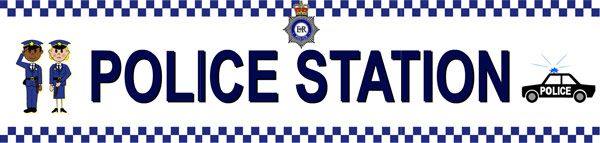 Police Station Role Play Sign...A large police station banner / sign ideal to use in early years role play scenarios.