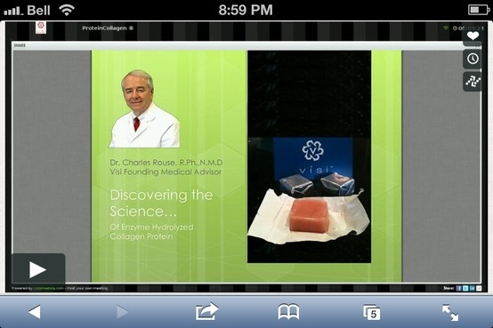 Dr. Rouse discusses Visi bio-identical protein product   http://vimeo.com/60222724  www.teamvisi.com/susan1/