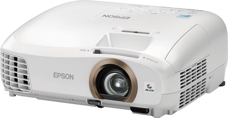Epson - Home Cinema 2045 LCD Projector - White - Left Zoom