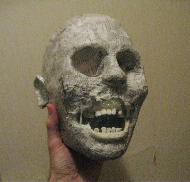 Hi all, this has been an ongoing, but far from finished project I have been working on. I wanted to try to use paper mache in a way that near rivaled