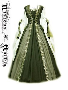 Medieval Irish Clothing Patterns | ... dress, celtic costume, green dress, day dresses, medieval dress