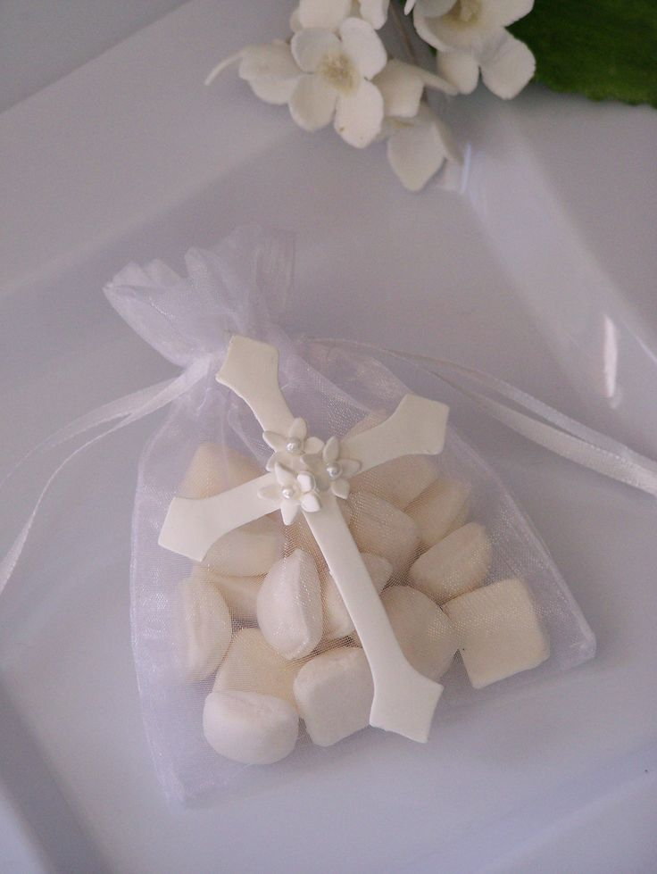 First Communion, baptism, confirmation Cross party favor bags 10 pieces. $13.50, via Etsy.