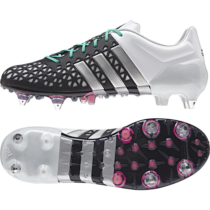 Adidas Ace 15.1 Soft Ground Football Boots Black - Available at Kitbag.com.