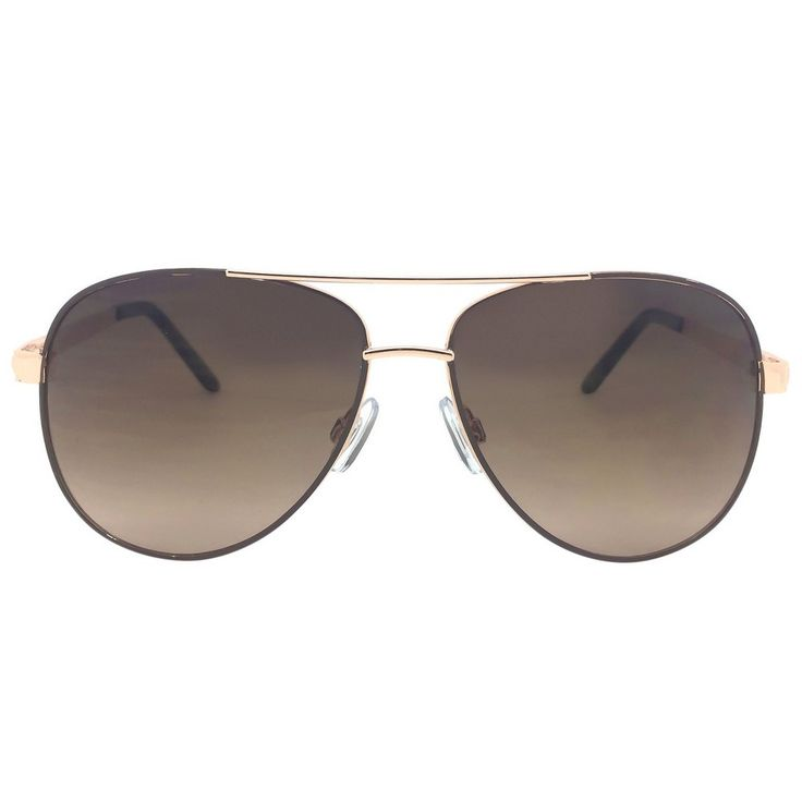 Women's Aviator Sunglasses - Brown Gold