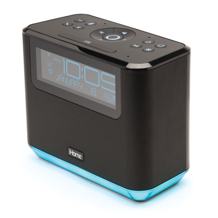 The iHome iAVS16 bedside alarm clock and music system integrates Amazon Alexa voice control; wakes you with music and waits for your voice commands.
