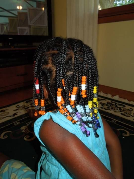 Rainbow Box Braids With Beads In 2019 Natural Hairstyles