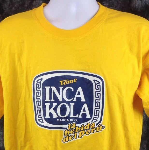 New Inca Kola T-Shirt Size Large Advertising Peru Soft ...