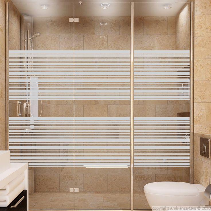 stickers muraux pour portes de douche lignes com