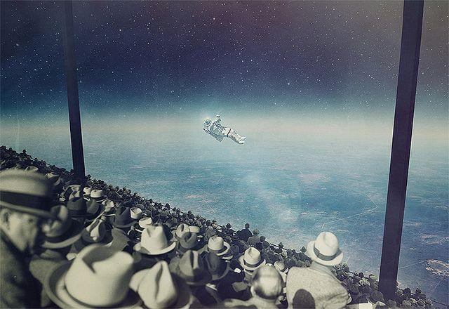 Imágenes musicales Joseba Elorza y los collages retrofuturistas