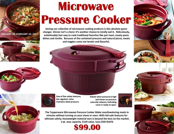 tupperware pressure cooker instructions