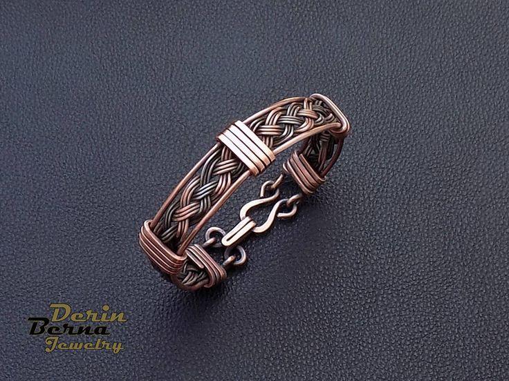 Accessoires pour hommes manchette en cuivre bracelet Bracelet