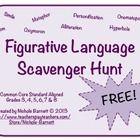 Figurative Language Scavenger Hunt (Widespread Core Aligned)