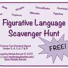 FREE, FREE, FREE!!!! This Scavenger Hunt is a fun, interactive way to get students to locate 8 different types of Figurative Language! Great for 3rd-8th Grade! Common Core Aligned too!