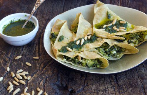 Baked broccoli rabe ravioli | healthy food | Pinterest