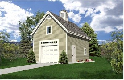 Detached garage plans with loft woodworking projects plans for Single car detached garage plans