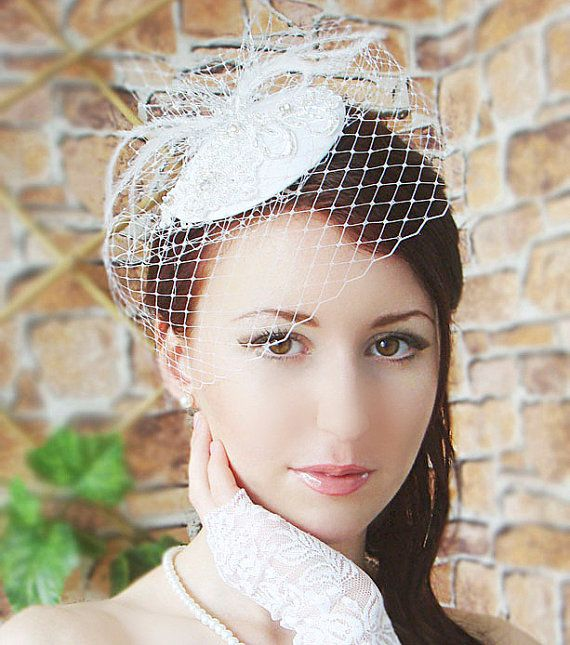 Items Similar To Bridal Mini Hat