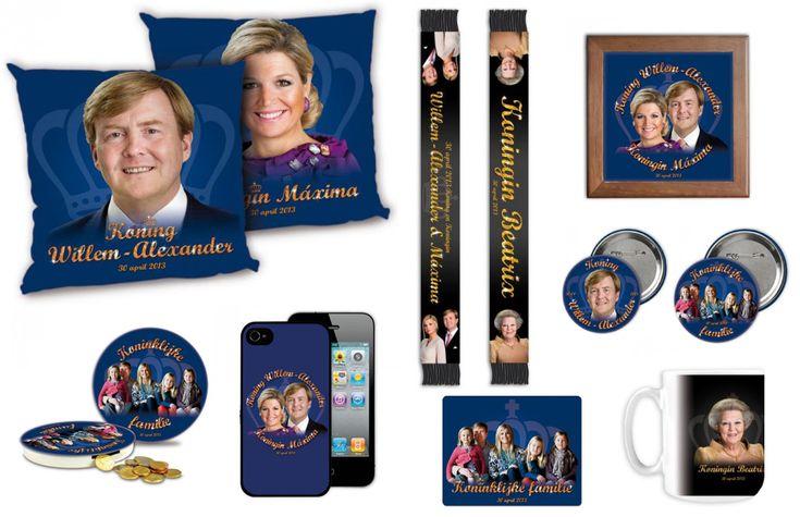 Bufandas, tazas, cojines, fundas para el móvil... Los souvenirs de la coronación de Guillermo y Máxima de Holanda