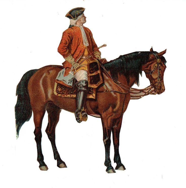 Un chromo - Découpis - Cavalier, soldat  à cheval - Sans défaut fr.picclick.com