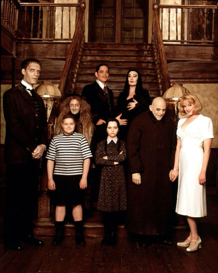 The addams family values wedding bands