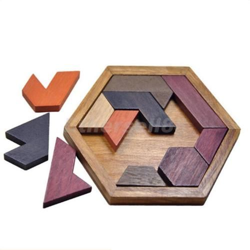 Diy wooden iq game jigsaw #intelligent #tangram brain #teaser puzzle kids toys,  View more on the LINK: http://www.zeppy.io/product/gb/2/201592380303/