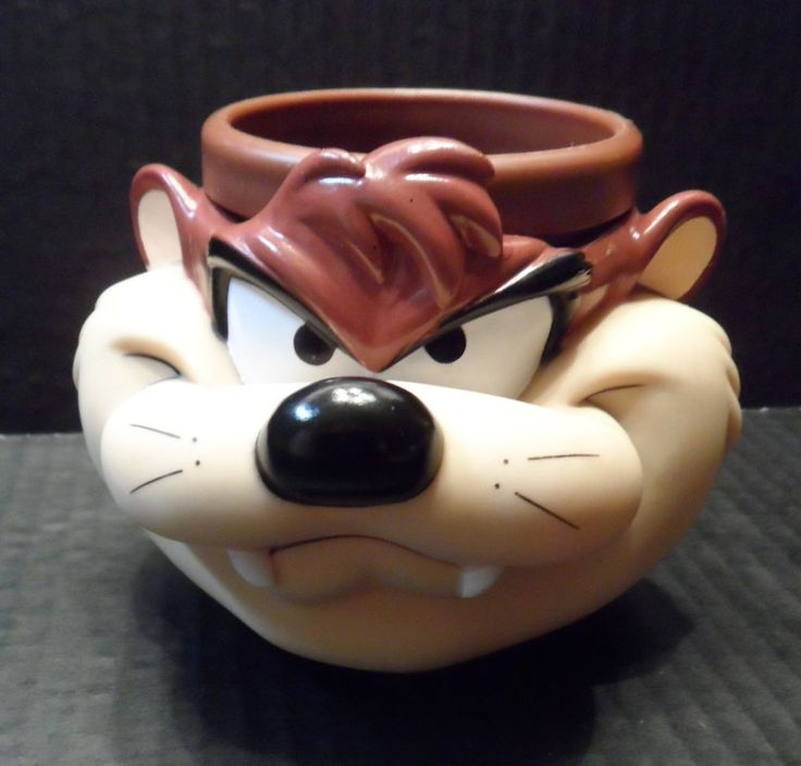 """$14.89 / VINTAGE 1992 Plastic Cup/Mug by Warner Bros. features 3-D Tazmanian Devil/ """"Taz"""" ~~view over 600 items in 29 categories of merchandise in my ebay store. I ship globally. www.shellyssweetfinds.com #coffeemug #coffeecup #cups #mugs #Taz #TazmanianDevil #WarnerBros"""