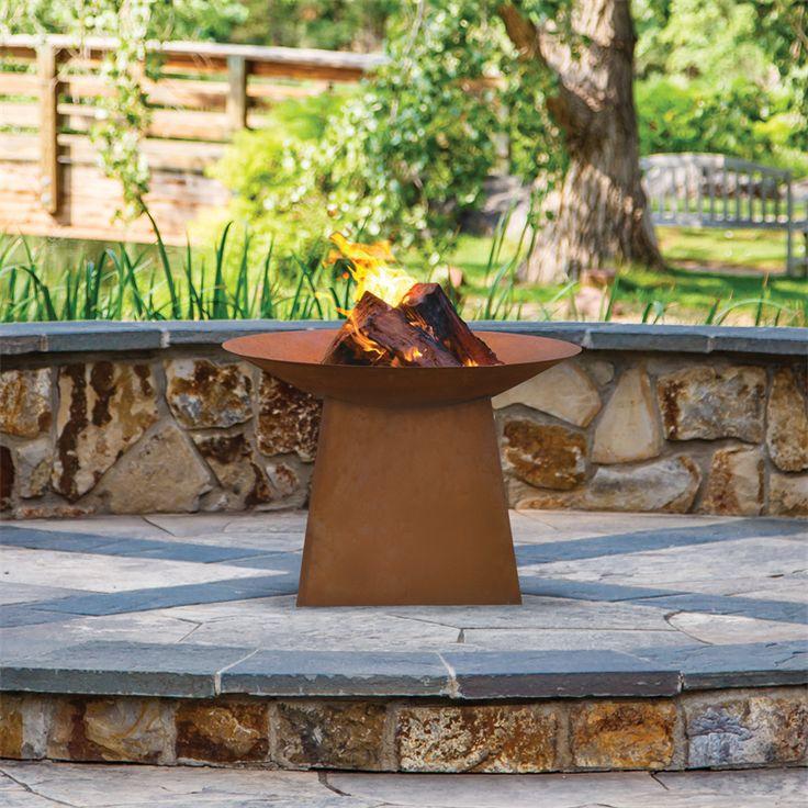 Glowing Outdoor Fireplace Ideas: Best 25+ Rustic Fire Pits Ideas On Pinterest