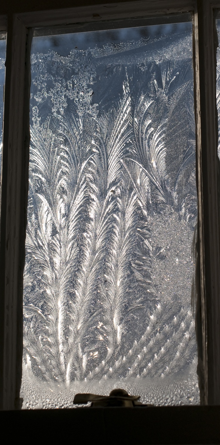. . . frost on windows. Children today don't know what they are missing.