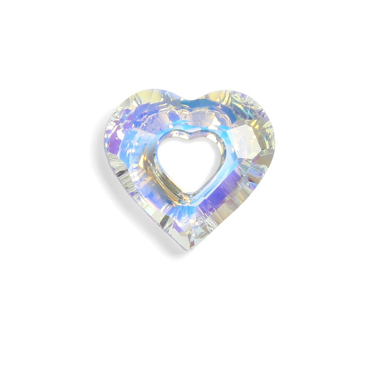6262 Crystal AB miss u heart 17mm pk1