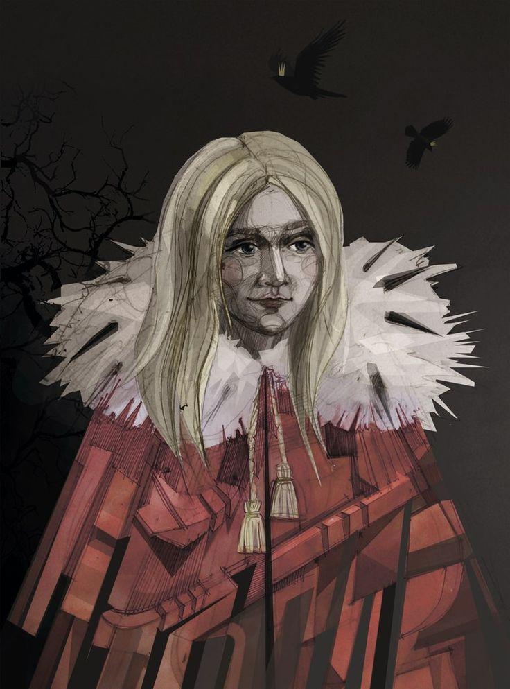 #illustration #Gerda #fairy tal e#girl #character #graphics