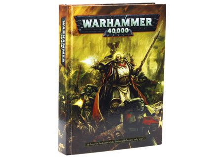 Warhammer 40k Rulebook, 6th Edition. Just out! Finally I can learn how to play the game itself, instead of just painting the minis.