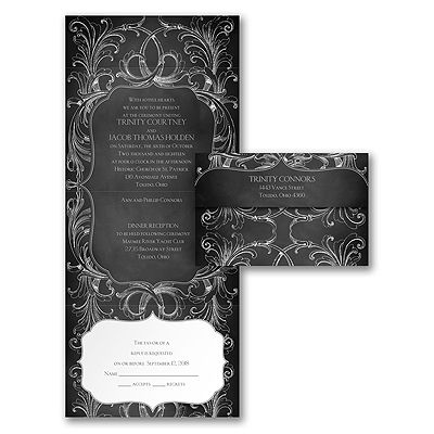Chalkboard Flourish Seal U0027n Send Wedding Invitations  Http://partyblockinvitations.occasions